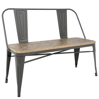 industrial metal chairs patio chair cushions with velcro fasteners buy kitchen dining room online at overstock com our best bar furniture deals
