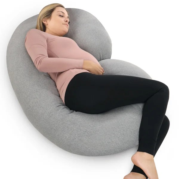 Shop PharMeDoc Pregnancy C-shaped Body Pillow with Soft ...