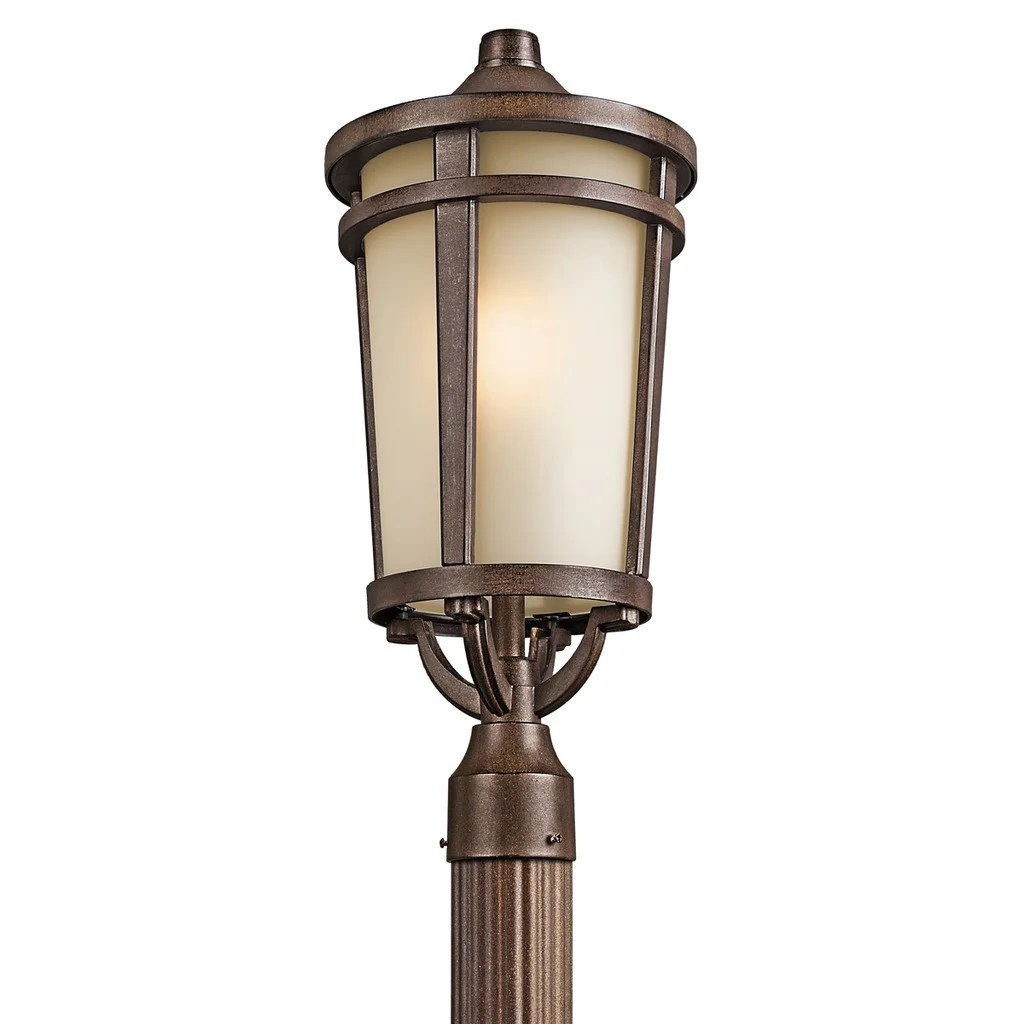 Kichler Lighting Atwood Collection 1-light Brownstone Outdoor Post Mount