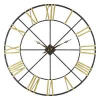 Baldwin Oversized Black/Gold-tone Metal 48-inch Wall Clock ...