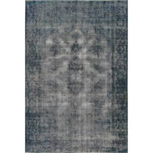 Hand-knotted Vintage Blue Overdyes Lamb'Wool Area Rug (6'4 x 9'6)