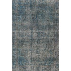 Hand-knotted Vintage Blue Overdyed Wool Area Rug (5'7 x  8'8)