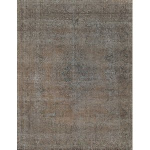 Hand-knotted Vintage Grey Overdyed Wool Area Rug (9'7 x 12'6)