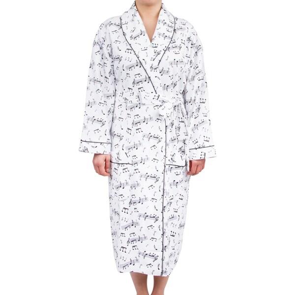 Shop Leisureland Women's Cotton Flannel Novelty Long Robe