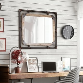 wall mirror living room green chairs buy mirrors online at overstock com our best furniture of america revo industrial distressed