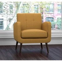 Taylor Mid Century Navy Blue Tufted Accent Chair - Free ...