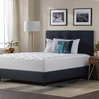 Five Star Plush Hotel Mattress Pad Topper With Ed Skirt