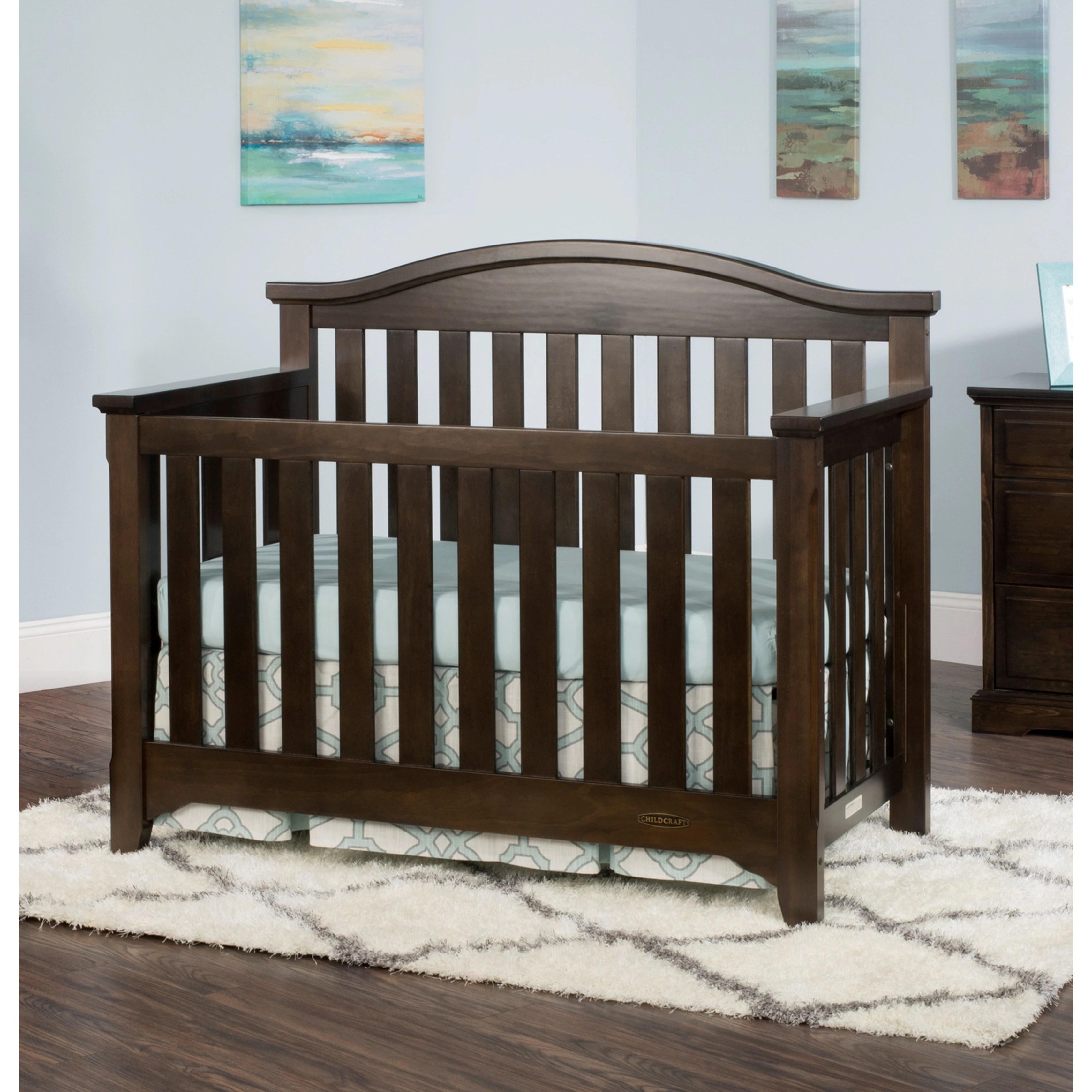 Child Craft Whitman 4-in-1 Convertible Crib, Slate