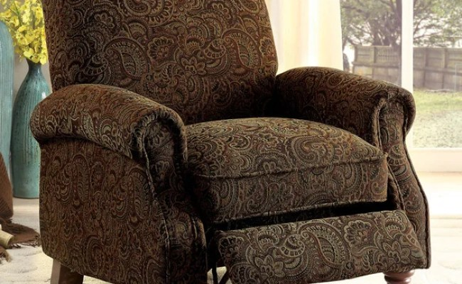 Shop Vargo Traditional Brown Pattern Push Back Recliner