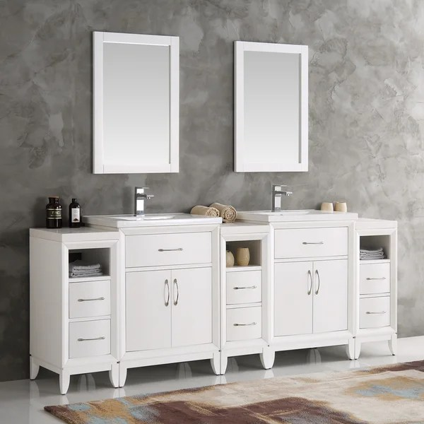 Shop Fresca Cambridge White 84inch Double Sink