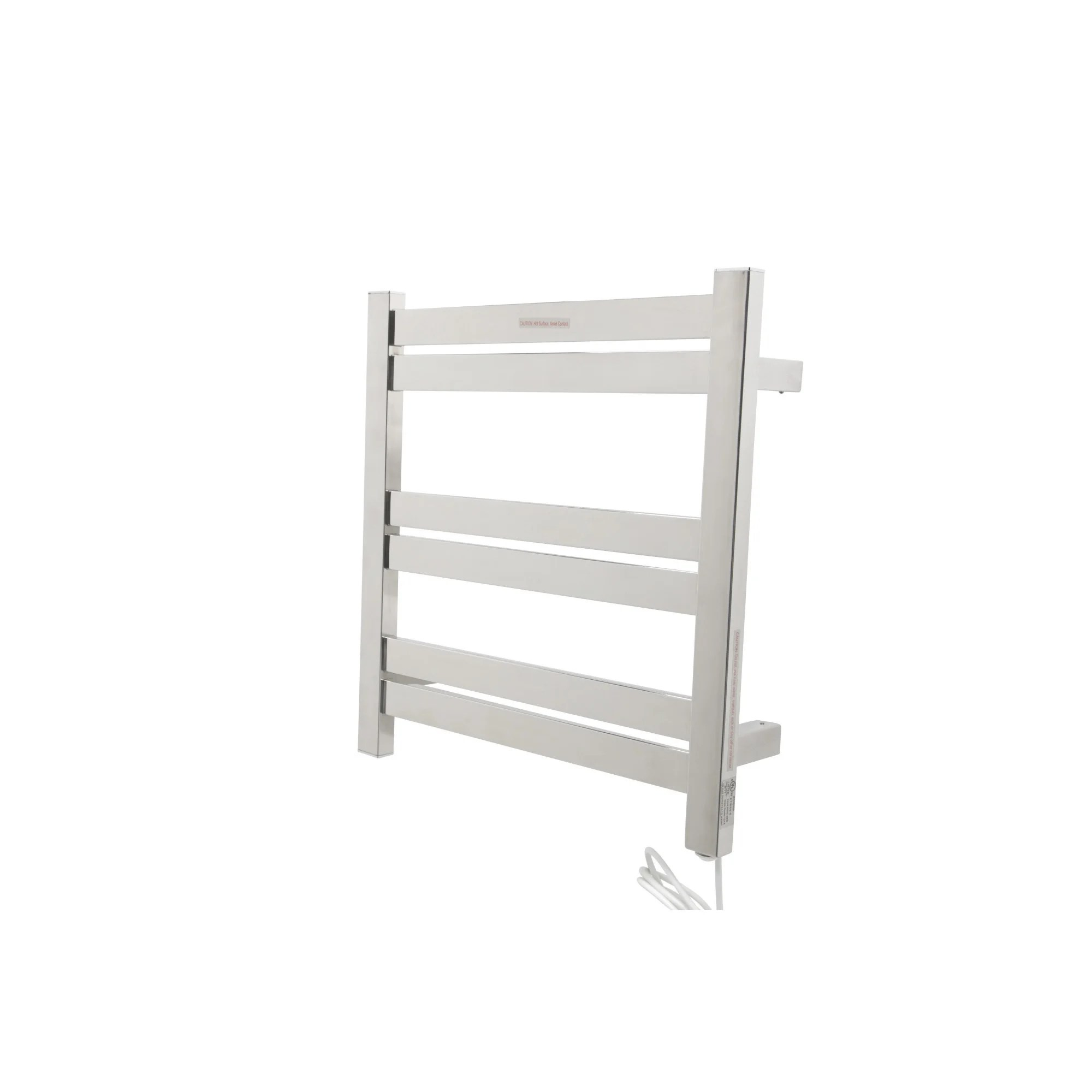 ANZZI Starling 6-Bar Stainless Steel Wall Mounted Electric Towel Warmer Rack in Polished Chrome