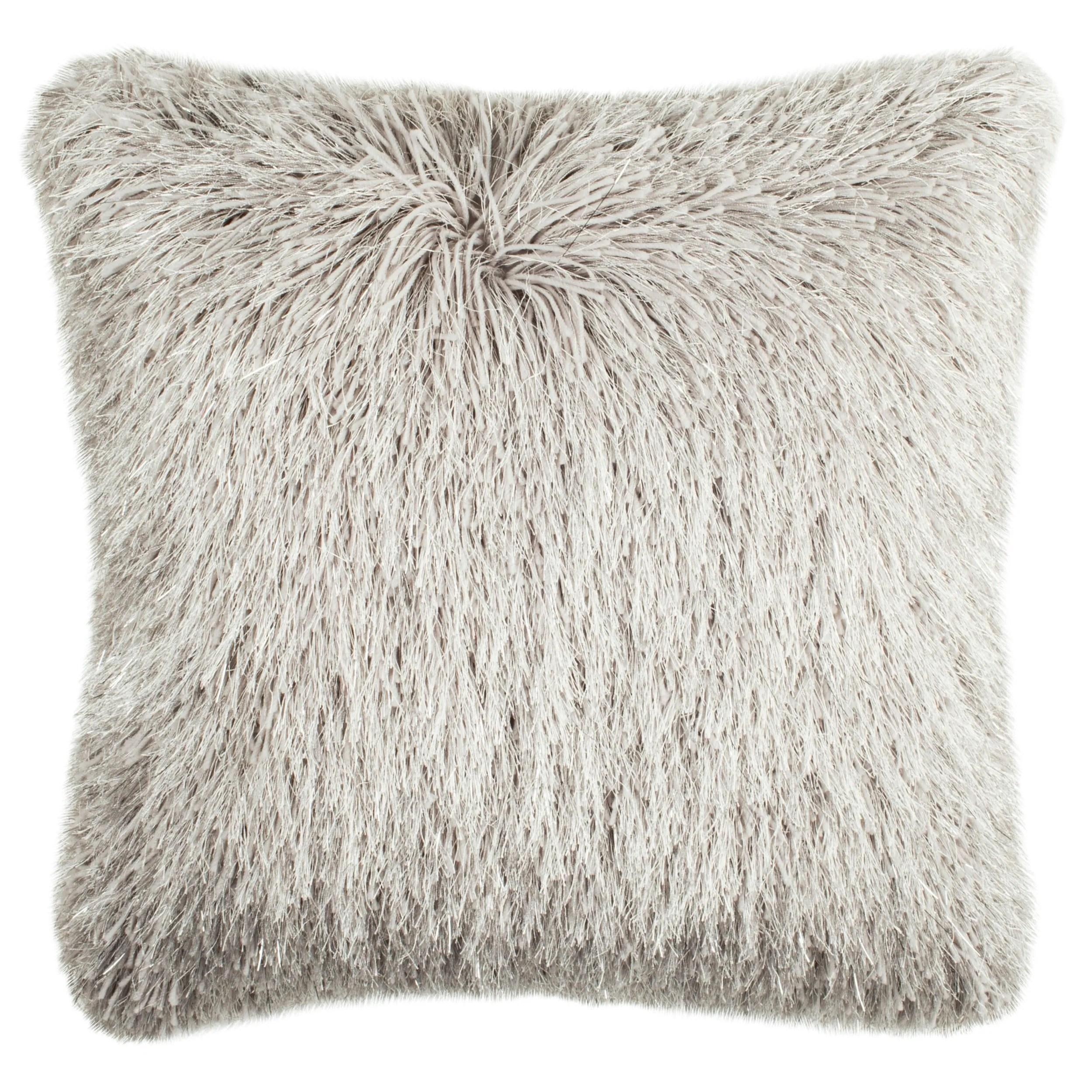 gray shag pillow online