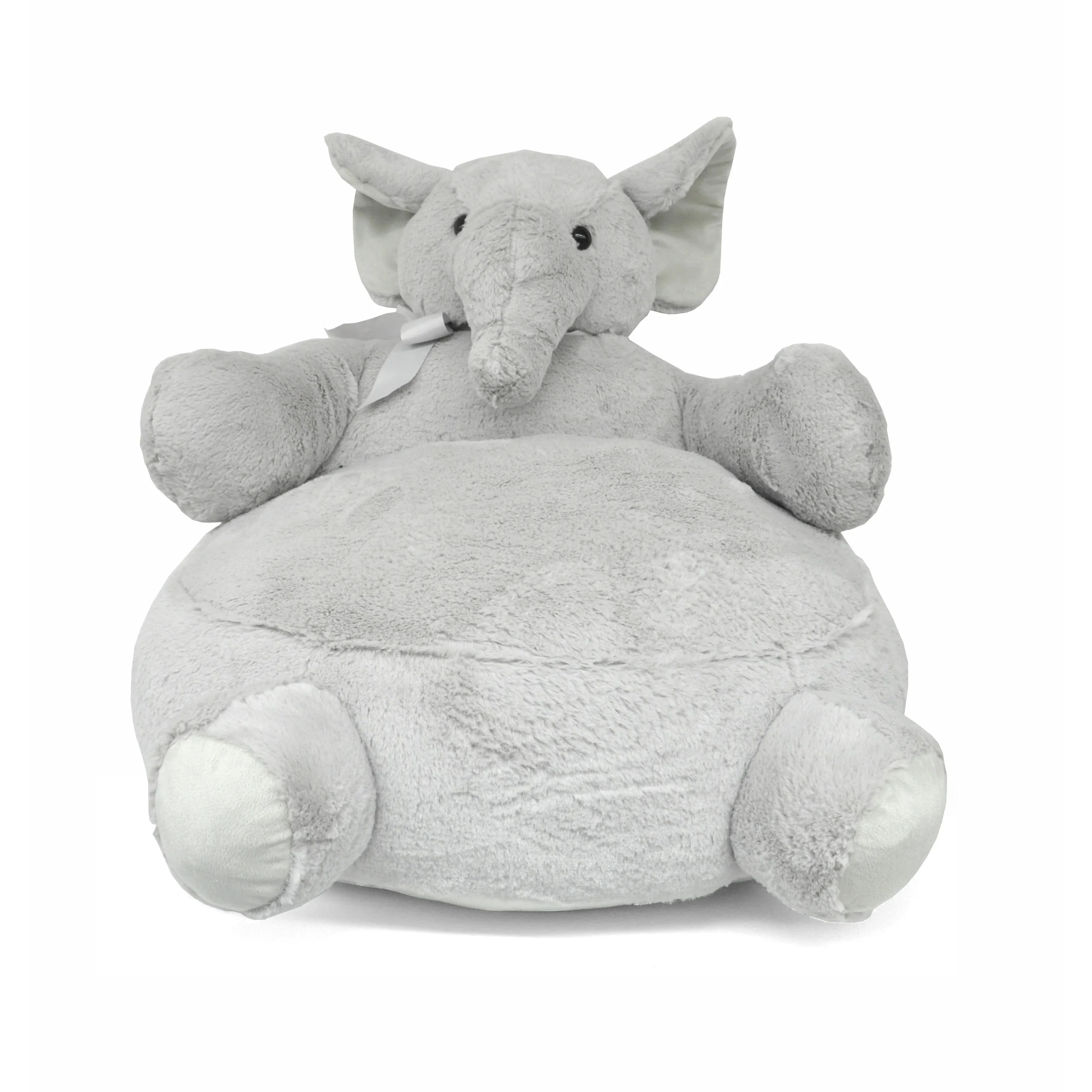 Plush Toddler Chair Kids Plush Elephant Lounge Chair Large Animal Cushioned