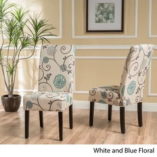 overstock com chairs klismos chair design buy dining online at our best living room t stitch floral fabric set of 2 by christopher knight home