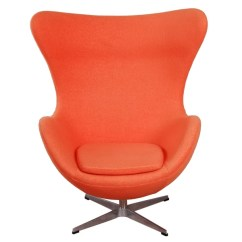 Mid Century Egg Chair Large Round Chairs For Living Room Shop Mlf Orange Cashmere Wool Free Shipping
