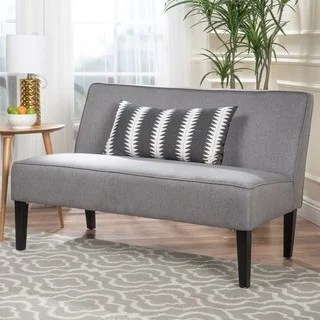 armless sofas cheers manwah sofa reviews buy couches online at overstock com our best dejon fabric loveseat by christopher knight home