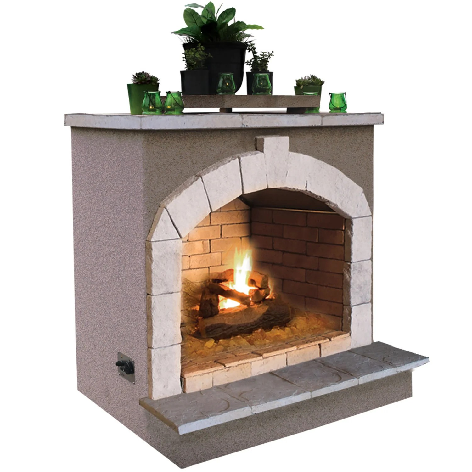 48 inch propane gas outdoor fireplace