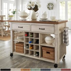 Two Tone Kitchen Island Design Ideas Shop Eleanor With Wine Rack By Inspire Q Classic