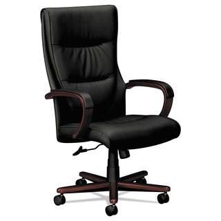 hon desk chair 48 high back outdoor cushions buy office conference room chairs online at overstock com vl844 series swivel tilt black leather mahogany