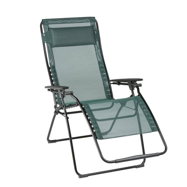 xl zero gravity chair with canopy footrest where can i rent a recliner shop lafuma futura black steel frame cedar batyline fabric free shipping today overstock com 14003378