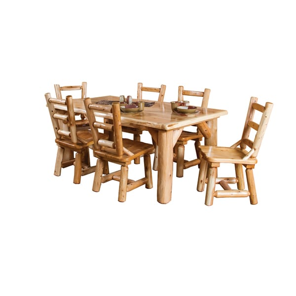 white 6 chair dining table bedroom modern shop rustic cedar log family with chairs free shipping today overstock com 14031670