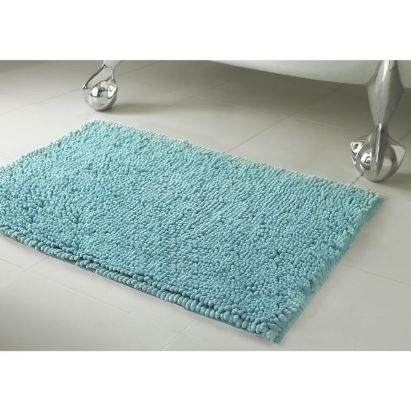 Shop Resort Collection Plush Shag Chenille Bath Mat (17 inches x 24 inches) - On Sale - Free Shipping On Orders Over $45 - Overstock - 14032091