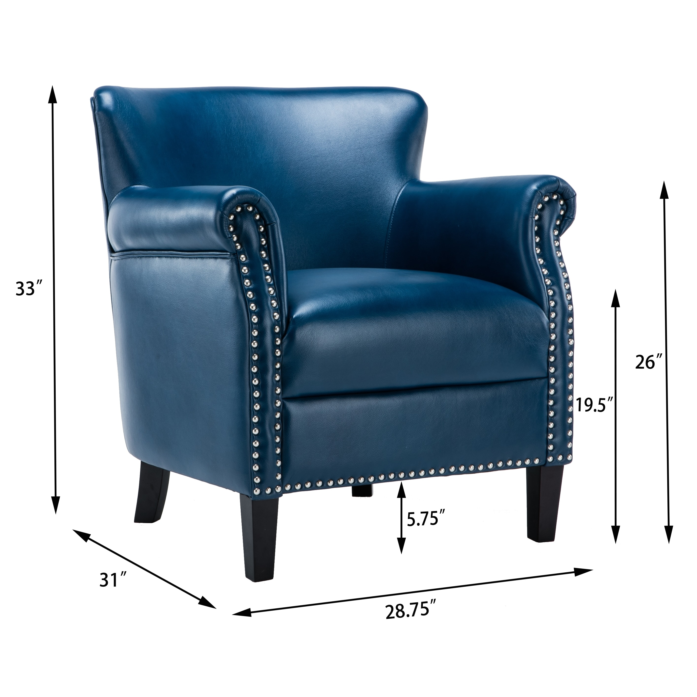 navy blue leather club chair office for sciatica uk droughtrelief org