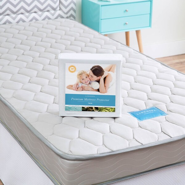 Shop LINENSPA Twin XLsize Innerspring Mattress with Waterproof Protector  On Sale  Free