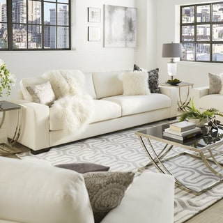 white sofa living room pictures of sets buy sofas couches online at overstock com our best lionel cotton down filled extra long deep seat by inspire q artisan