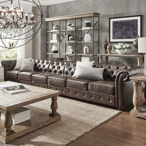 long sofas leather sofa selber bauen paletten shop knightsbridge bonded oversize extra tufted chesterfield by inspire q artisan