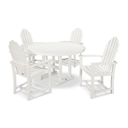 polywood classic adirondack chair faux leather and ottoman shop 5 piece outdoor dining set