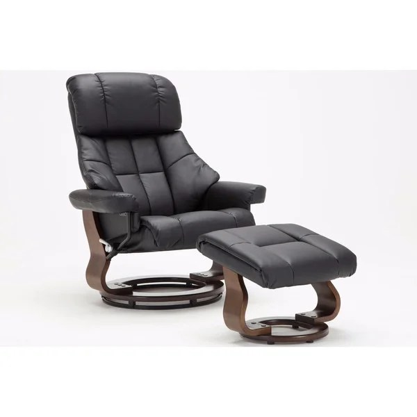 Shop Mid Century Modern Bonded Leather Lounge Swivel and