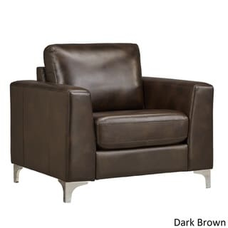 dark brown leather chair sling outdoor cushions buy living room chairs online at overstock com our best furniture deals