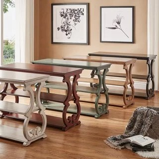 kitchen console table aids for disabled buy tables online at overstock com our best living room lorraine wood scroll tv stand sofa by inspire q classic