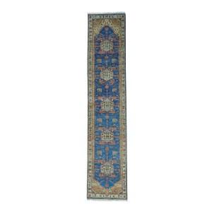 Shahbanu Rugs Antiqued Bakshaish 300 Kpsi Natural Dyes Oriental Runner Rug