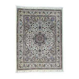 Shahbanu Rugs Hand-Knotted Persian Mashad Saberi Wool And Silk 400 Kpsi Rug (10'0x13'8)