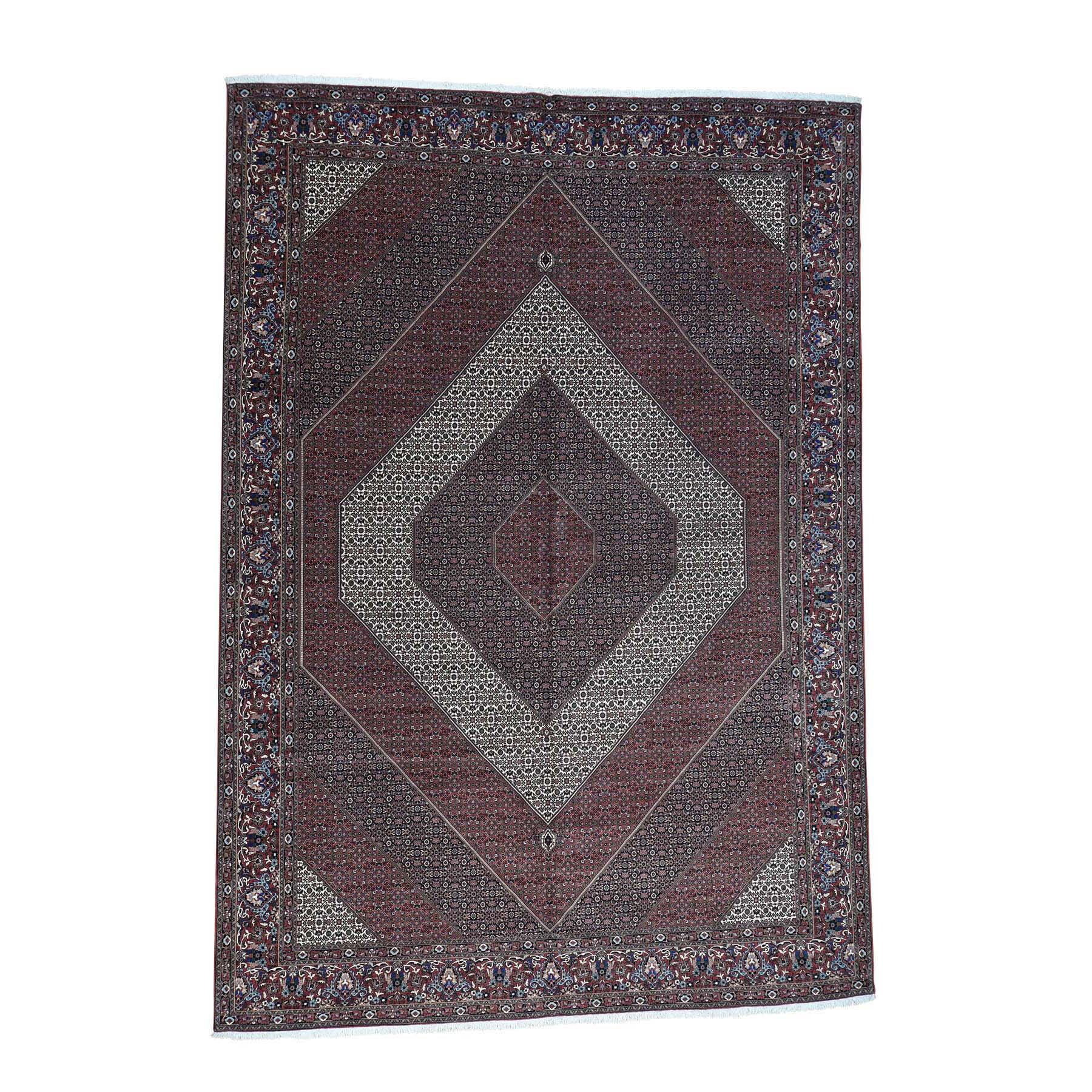 Shahbanu Rugs Handmade Oversize Persian Bidjar 400 Kpsi Wool And Silk Rug