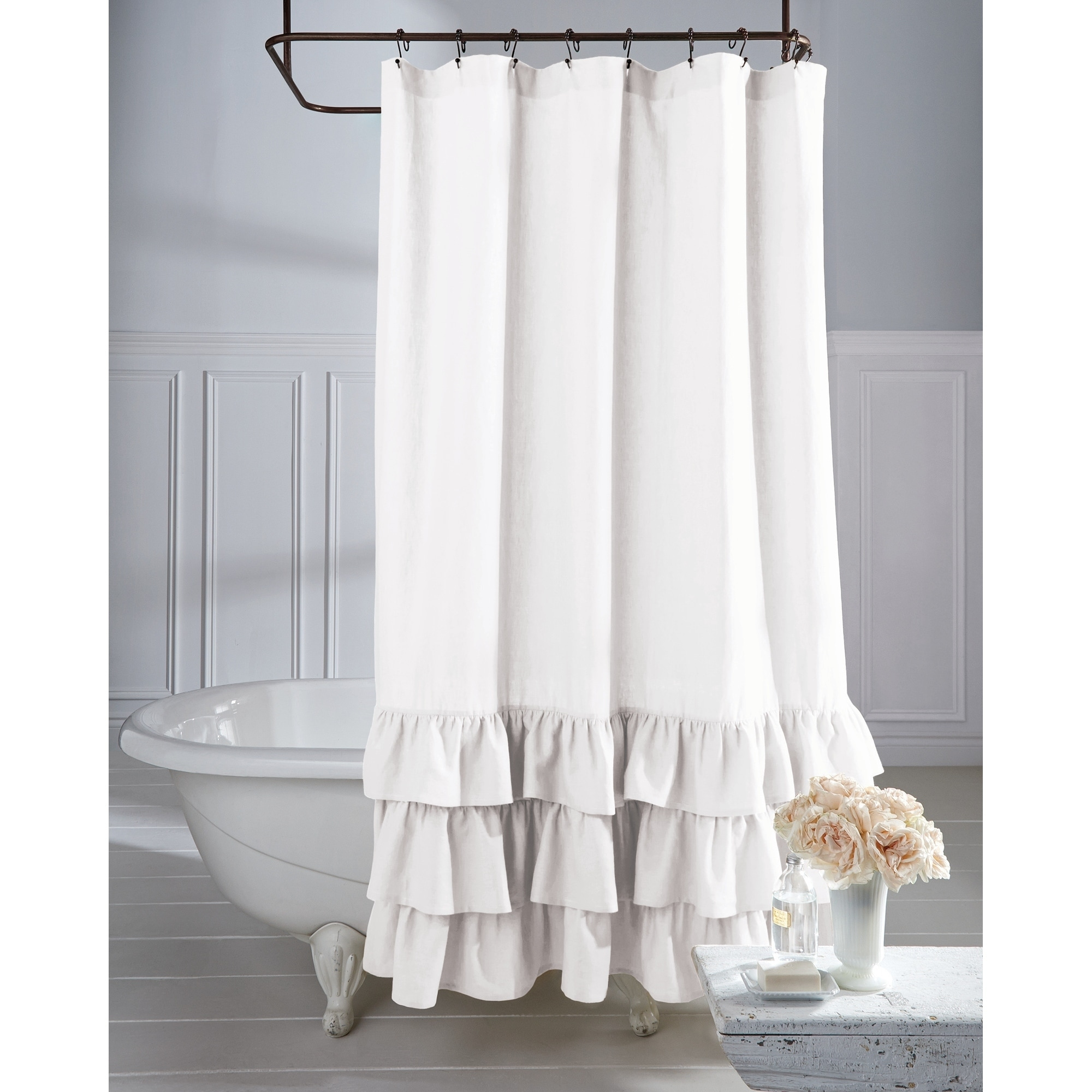White Shower Curtains Find Great Shower Curtains