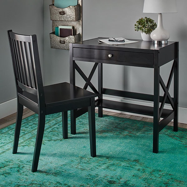 Simple Living Black Xdesign Writing Desk  14216200