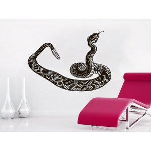 Snake Wall Decal Animals Vinyl Stickers Decals Window Bedroom Nursery Living Room Sticker Decal size 48x57 Color Black - 48 x 57