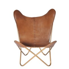 Overstock Com Chairs Fabric For Dining Shop Safari Chestnut Leather Butterfly Chair Free