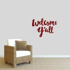 Welcome Ya'll Ohio Wall Decal - 24 inches wide x 18 inches tall