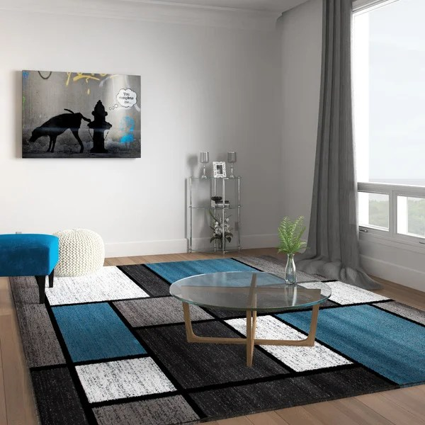 grey living room area rugs decorating walls ideas shop contemporary modern boxes blue rug 7 10 x 2 x27