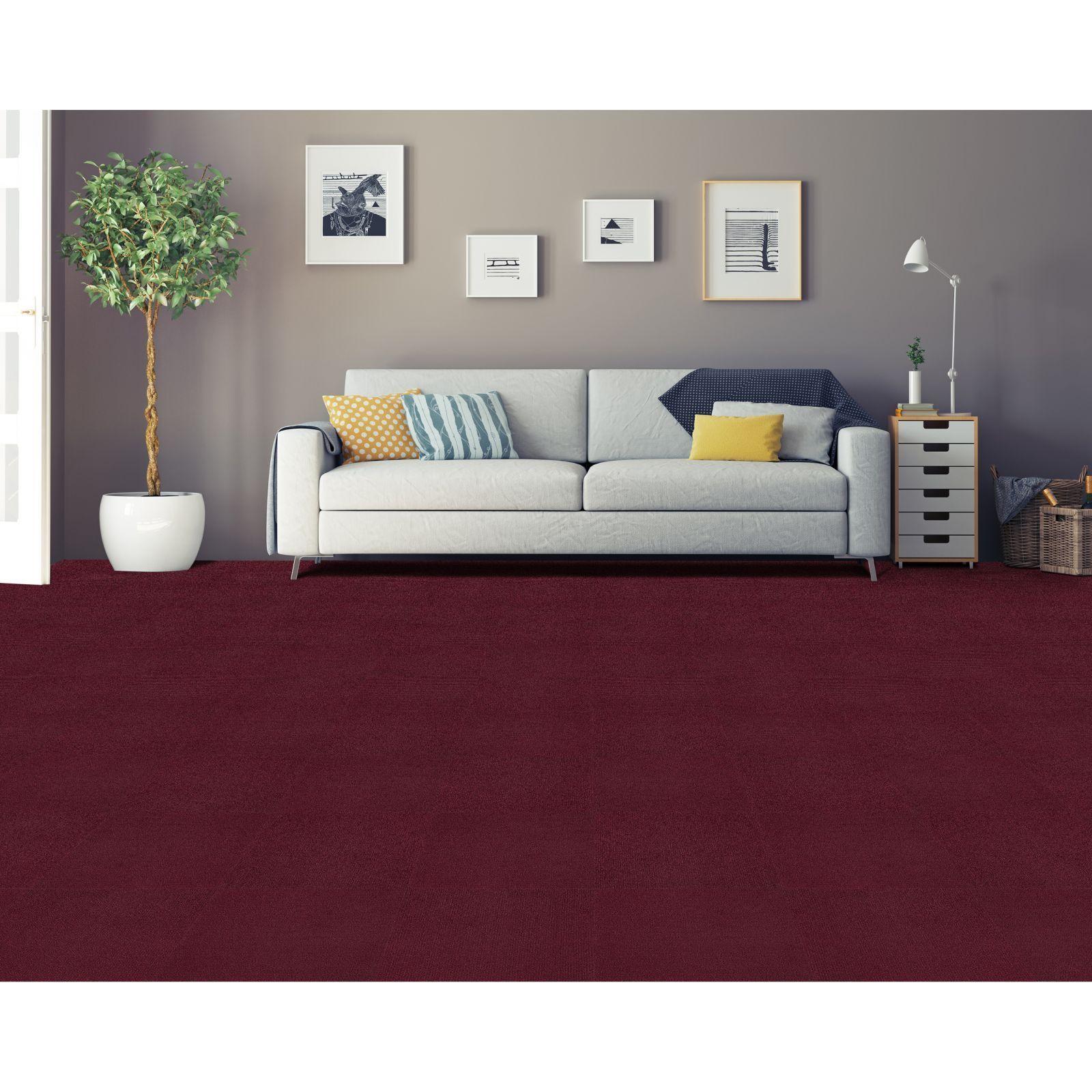 achim nexus burgundy self adhesive carpet floor tile 12 tiles