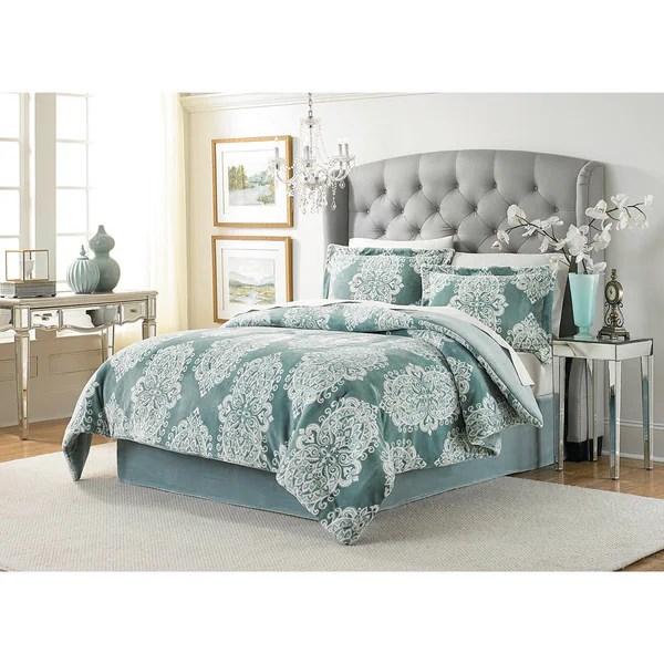 Shop Lenox Amaya Velvet Plush Comforter Set