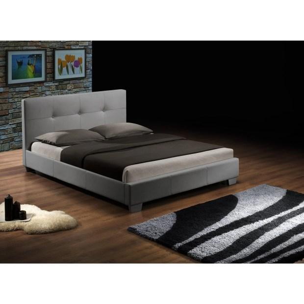 DG Casa Lexington Grey Faux Leather Queen-size Platform Bed