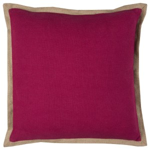 Rizzy Home Solid Purple Cotton/Jute Decorative Filled 22 x 22 Throw Pillow