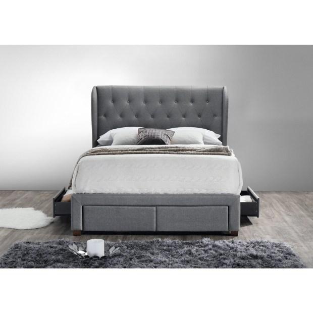 DG Casa Barcelona Storage Bed Grey Fabric