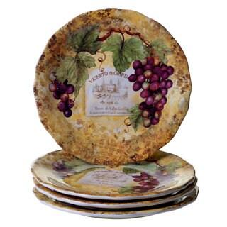 Lorren Home Trends Italian Made Sunflower Dinner Plates