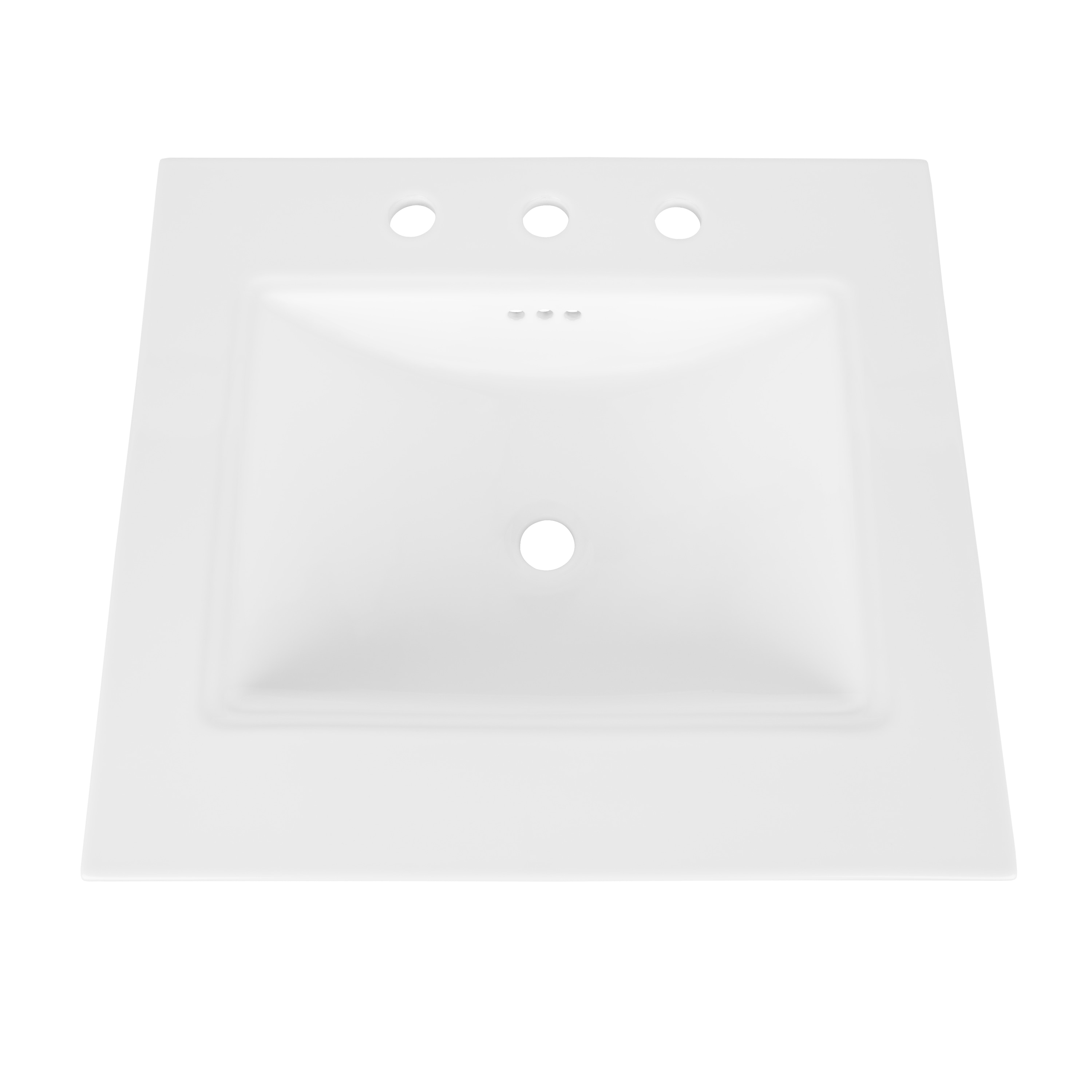 ronbow monterey 25 inch bathroom sink top in white with overflow